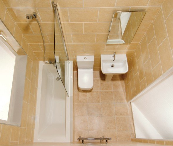 Three bathroom design ideas for small spaces for Toilet and bath design small space