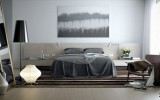 <b>Bedroom Colour Designer Grey in All Elements</b>