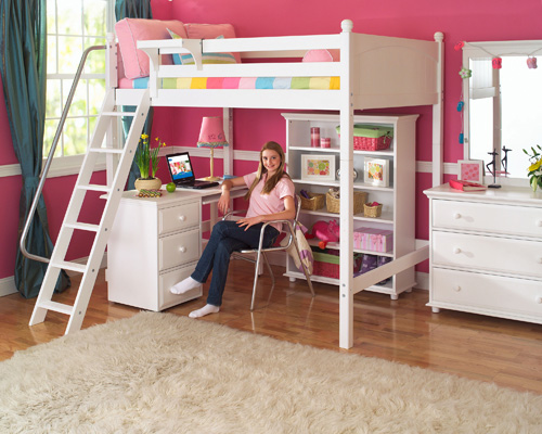Bedroom Ideas for Teenage Girls with Bunk Beds