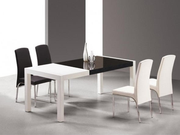 Black and White Dining Room Tables