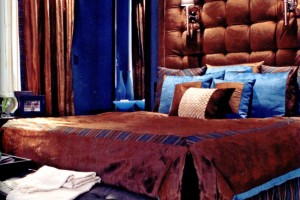 Blue Brown Color Scheme Bedroom