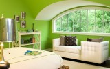 <b>Bedroom Green Walls Olive, Sage, and Lime Options</b>