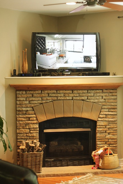 Corner Fireplace and TV Ideas