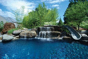 Designer Pool Backyard Home Photo