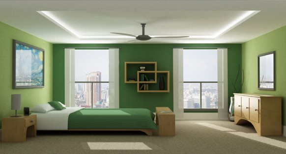 Green Color Bedroom Walls