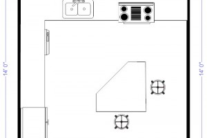 Island Kitchen Floor Plan kitchen floor plans