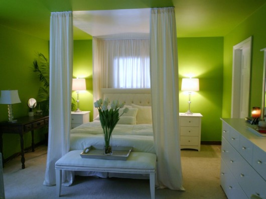 Master Bedrooms with Green Walls