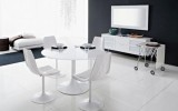 <b>Modern White Dining Chairs with the Table</b>
