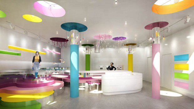 Pop Design for Office Ceiling Photo