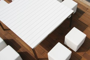White Outdoor Dining Table Sets