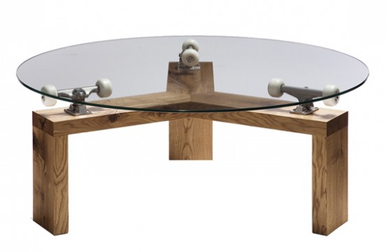 Wooden Dining Table Glass Top