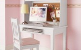 <b>Wooden Office Table Painted White with Storage Ideas</b>