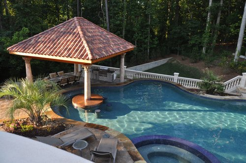 Home Pool Swim Up Bar