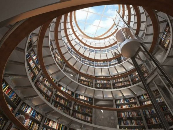 Best Library Design in The World Photo