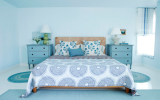 <b>Bright Aqua Bedrooms with Additional</b>