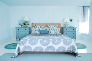Bright Aqua Bedrooms with Additional