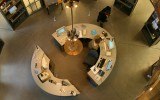 <b>Circular Desk Design in Home Office</b>
