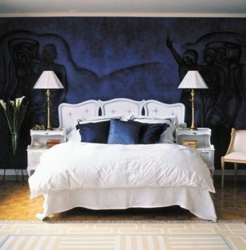 Black And Dark Blue Bedroom dark blue bedrooms