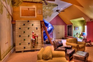 Attic Room's Designs for Kids' and Couple's Bedroom
