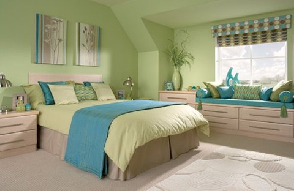 . Light Blue and Green Bedroom Ideas