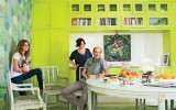 <b>Lime Green Library Walls Paint and Murals</b>