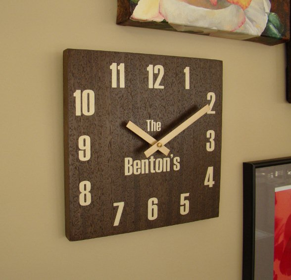 Personalized Wall Clocks Family Name