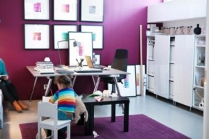 Purple Color Room Idea