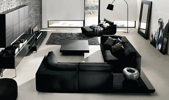 Small Living Room with Dark Furniture