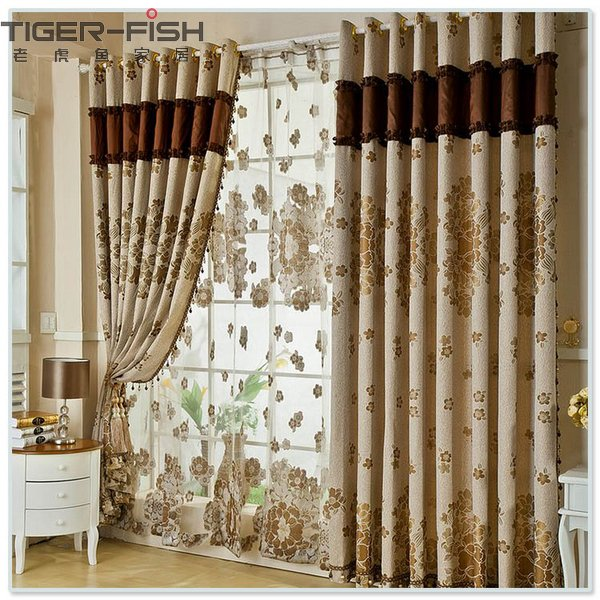 Curtain designs for living room ideas for Curtain designs living room