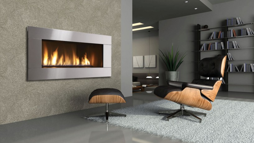 Contemporary relaxing fireplace